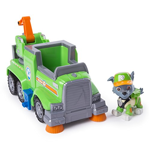 PAW Patrol Rocky's Ultimate Rescue Recycling Truck with Moving Crane & Flip-Open Ramp, Ages 3 & Up -