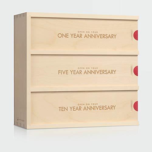 Anniversary Wine Box - Classic Trio // Wedding Gift for the Couple // Wedding Wine Box // WineforaWedding