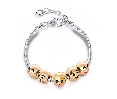 Eliana and Eli Emoji Emoticon Funny Charms Adjustable Bracelet Jewelry -