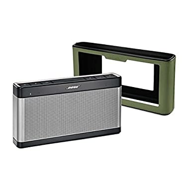 Bose SoundLink III Bluetooth Speaker Bundle w/ Olive Green Soft Cover