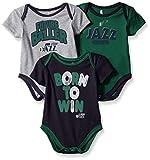 NBA by Outerstuff NBA Newborn & Infant Utah Jazz Little Fan 3pc Bodysuit Set, Heather Grey, 6-9 Months