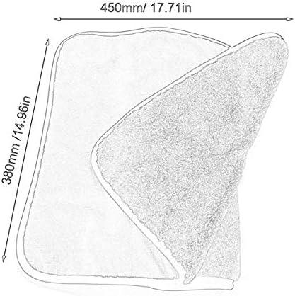 45x38コーラルベルベット高吸収性カーウォッシュタオルカークリーニングドライクロスカーケアクロスカーウォッシュタオル-ブルーイエロー-450x380x10
