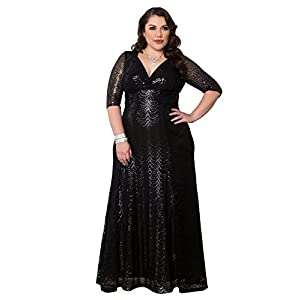 7df653a71f0 Kiyonna Women s Plus Size Grand Gatsby Gown