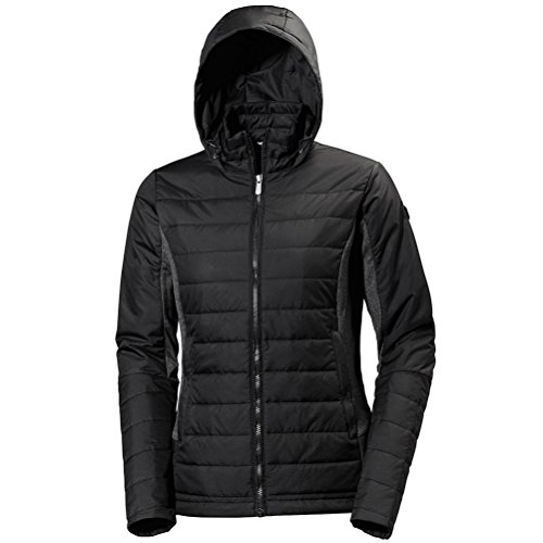 Helly Hansen Women's Astra Hooded Wind Resistant Jacket, Black, M