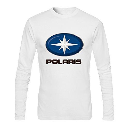 Diy Polaris Men's Tshirt Long Sleeve by Fangbai Liu M White