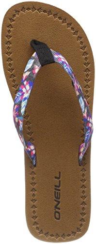 Mujer Fw Schwarz Small Black Flops Pink Flip O'neill Woven Graphic Chanclas Para Strap 9945 40xRRqd8