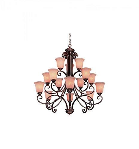 Dolan Designs 2093-133 Medici 15 Light 3 Tier Chandelier, English Bronze