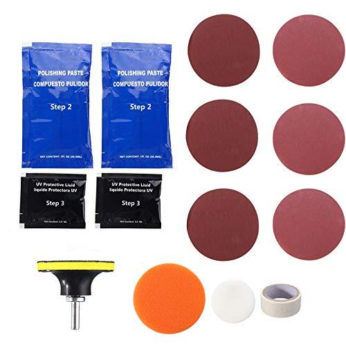 MeiBoAll Headlight Restoration Kit, Headlamps Cleaning Polishing Tools Car Motorcycle 4R0SE42E11KRIBRI01UVC