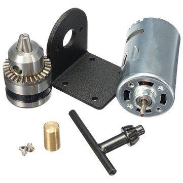 Mechanical Parts Motor - 5V-12V Lathe Press 555 Motor With Drill Chuck And Mounting Bracket - 1x DC 12V Motor
