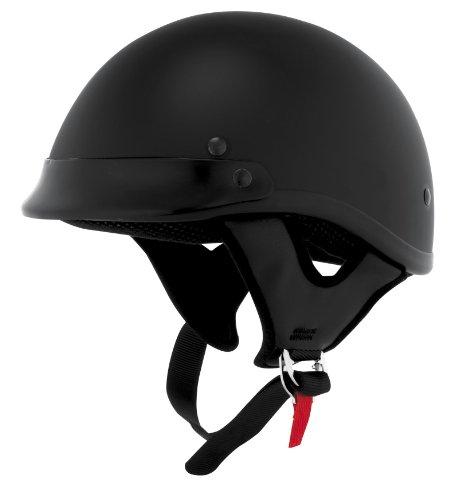 Perf Lid (Skid Lid Traditional Adult Street Motorcycle Helmet - Flat Black / 2X-Large)
