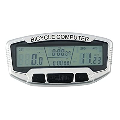 Digital LCD Backlight Bicycle Computer Odometer Bike Speedometer Stopwatch