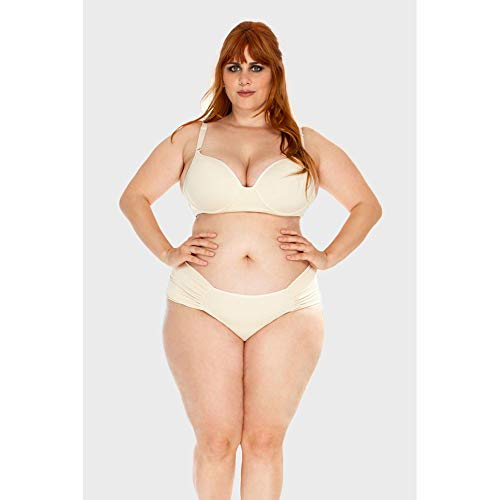 Calcinha Drapeada Plus Size Off White-46