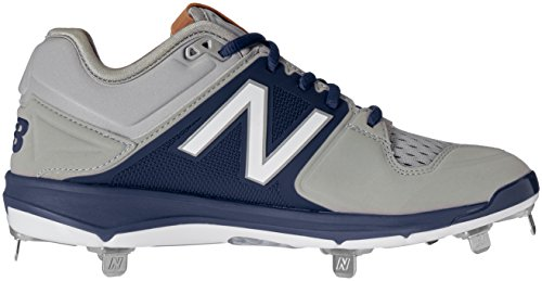 New Balance Mens L3000V3 Baseball Shoe, Black/White, 10 2E US Grey/Navy