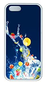 Apple iPhone 5S Cases - Fruits TPU Case Cover for iPhone 5S and iPhone 5 - White