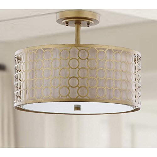 - Safavieh Lighting Collection Giotta Ceiling Light Antique Gold 12.4-inch Ceiling Light