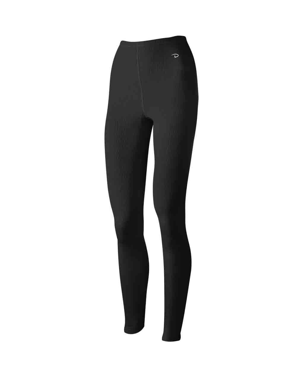Duofold Women's Mid Weight Wicking Thermal Leggings, Black, Large