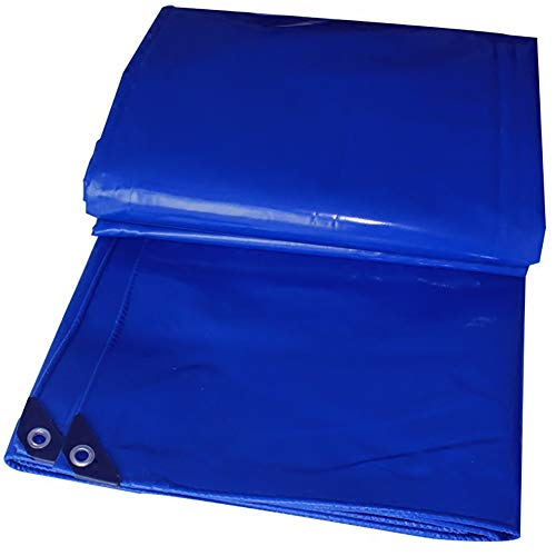 ズームコロニアル背景GUOWEI-pengbu ターポリン キャンバス 布 日焼け止め 防水 シェード 不凍液 屋外 (色 : 青, サイズ さいず : 3.8x4.8m)