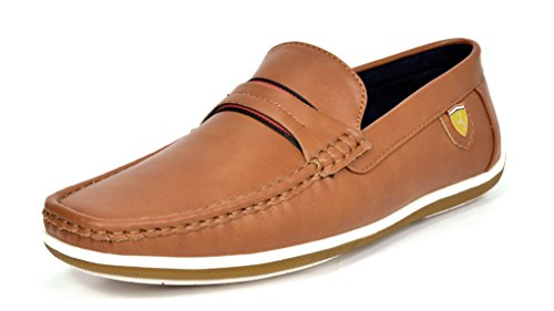 Bruno Marc Men's BUSH-01 Tan Driving Loafers Moccasins Shoes – 10 M US