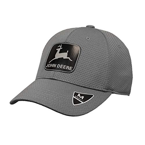 John Deere Memory Fit - VNTG Reflect Cap-Charcoal-Os (Deere Made John In)