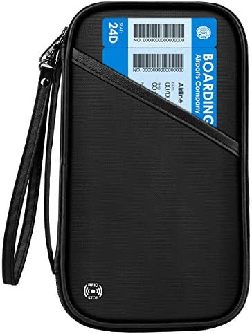 [スポンサー プロダクト]【2020年最新版】CAMORF パスポートケース スキミング防止 防水 パスポートカバー 通帳ケース 首下げ シンプル 四つのパスポート 航空券 紙幣 カードなど収納可