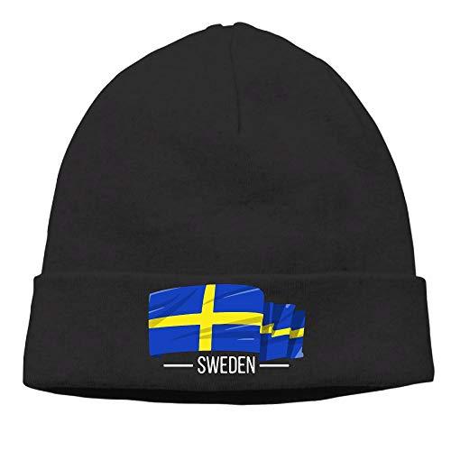 I Love Sweden Swedish Flag Men & Women Knit Hat Knit Warm Fleece Lined Skull Cap by 09&JGJG
