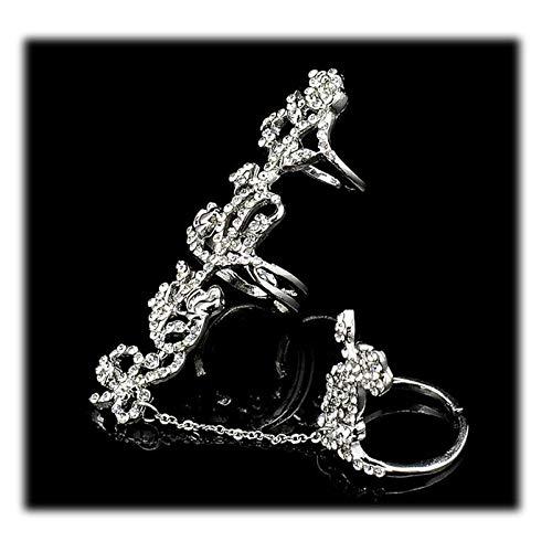 - Hanloud Multiple Rings Set Stack Knuckle Adjustable Ring For Women