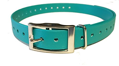 Sparky Pet 3/4″ Teal Biothane Replacement Square Buckle Dog Collar for Garmin For Sale