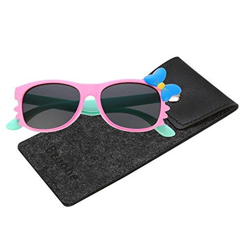 Brooben Flexible Kids Sports Sunglasses Polarized Glasses for Junior Boys Girls Age 3-15 - Sports Junior Glasses