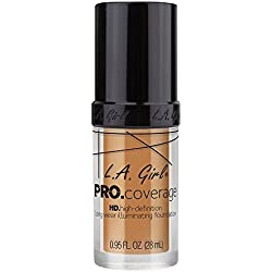 L.A. Girl Pro Coverage Liquid Foundation, Nude Beige, 0.95 Fluid Ounce