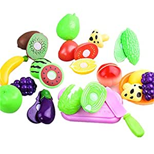 16PCS/lot Cutting Fruit Vegetable Toy Pretend Play Children Kid Toy Gift For Kids