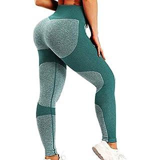 SEASUM Women Yoga Pants Heart Shape Patchwork Leggings High Waist Capris Workout Sport Fitness Gym Tights M