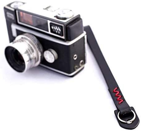 Camera Belt Accessory Handmade Cowhide Micro Single Camera Wrist Strap Leather Camera Wrist Strap Durable Color : Red