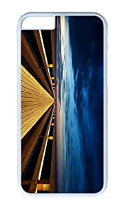 MOKSHOP Adorable Endless Wooden Bridge Hard Case Protective Shell Cell Phone Cover For Apple Iphone 6 Plus (5.5 Inch) - PC White