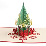 Handmade Christmas Cards 3D Pop Up Christmas Tree Merry Christmas Series Invitation Greeting Cards Christmas Gifts