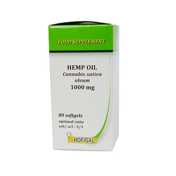 Hemp Oil 1000mg, Pure Cold Pressed Oil, 80 softgel Capsules, English Instructions Inside