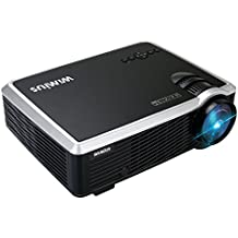 WiMiUS Projector, 3000 Lumens 5 Inch Home Portable Mini Projector Full 720P Support 1080P Compatible with Amazon Fire TV Stick, HDMI, VGA, USB, AV for Home Theater