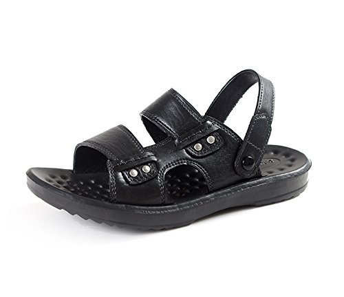 Xing Lin Sandalias De Hombre La Sandalia De Verano Nuevos Hombres Hombres Camisa Abierta De Puntera Calzado De Playa Padre Transpirable Zapatos black