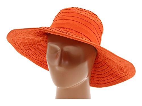 San Diego Hat Company Women's RBL299 Crushable Ribbon Floppy Hat Rust One Size