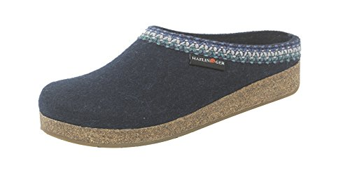 Haflinger Womens GZ Zig Zag Flat Captains Blue fD2dxEf