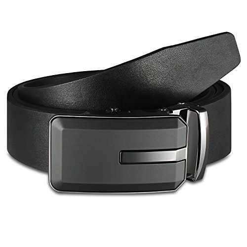 Review Mens Belts Big and Tall Dress Belts Black Leather Ratchet Belts Jeans Uniform belts golf Mission Belt