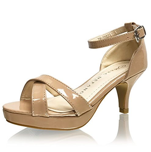 Marc Defang New York Girl's Tween Patent Leather Platform Sandal Pumps (Y3M US)