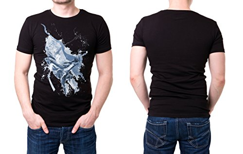 Breakdance schwarzes modernes Herren T-Shirt mit stylischen Aufdruck