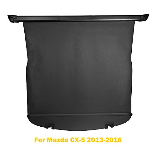AUXMART Cargo Cover for Mazda CX-5 2013-2016 Tonneau Cargo Rear Trunk Retractable Security Shielding Shade Black