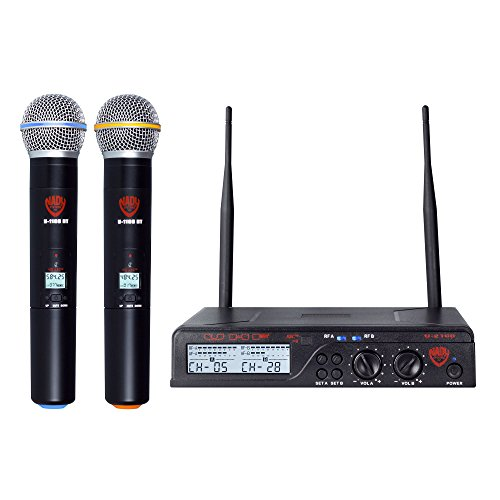 Nady U-2100 Dual HT 200-Channel UHF Wireless Handheld Microphone System by Nady