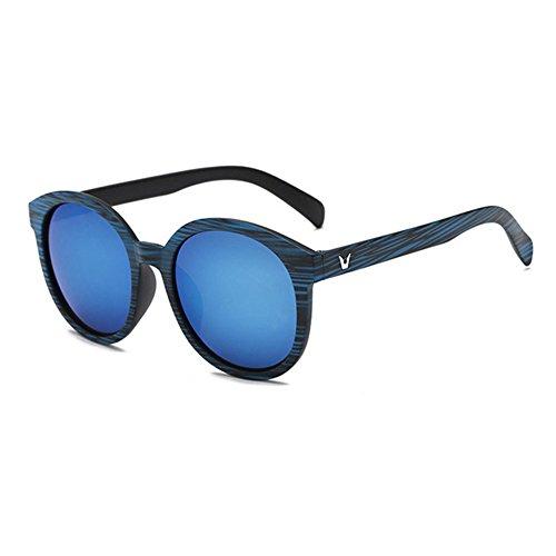Aoligei Rétro modèle bois lunettes de soleil dernier cri de couleur film de couleur pour le cadre Grand Mercure lunettes lunettes de soleil G