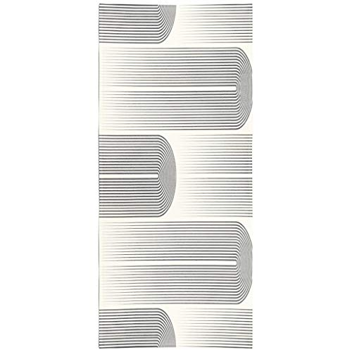 Soopat Beach Towel,Stripe Wallpaper Minimal Disco Graphic Stylish Geometric Pattern Stripe Pattern 30x60 Inch Outdoors Sand Free Beach Blanket for Travel Sports Beach Yoga Water Park