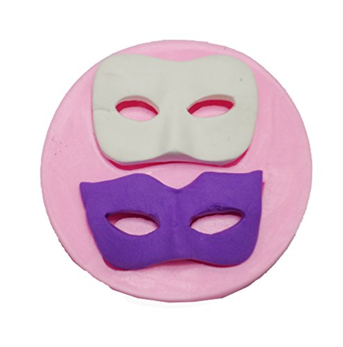 (Yunko 3d Masks Soft Silicone Cake Decoration Mould Fondant Jelly Candy Chocolate Mold Soap Candle Mold Halloween Party)