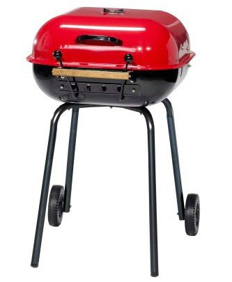 Charcoal Grill With Adjustable Cooking Grate, 21 Inch, Red
