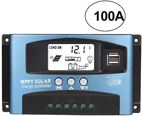 MPPT 40/50/60 / 100A Solar-Laderegler mit doppeltem LCD-Display, USB 12 V 24 V 100A default