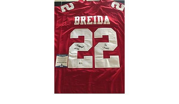 5bd3f5642 Matt Breida the Cheetah Autographed Signed San Francisco 49ers Jersey  Beckett Coa - Size XL at Amazon's Sports Collectibles Store